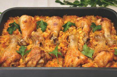 Вкусный рецепт горячего блюда из курицы с рисом по-домашнему.