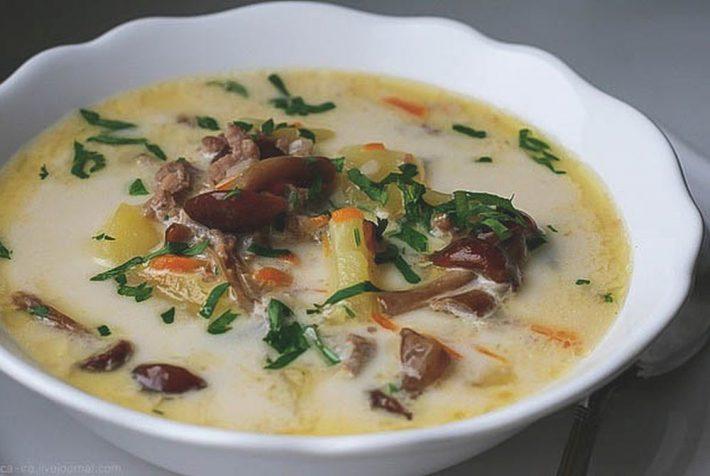 Вкусный рецепт грибного супа из свежих опят.