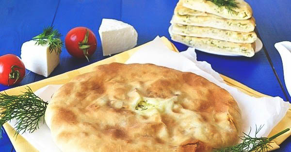 Вкусная выпечка - осетинский пирог из сыра для большой компании.