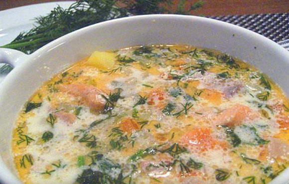 Рецепт вкусного домашнего супа из рыбы.
