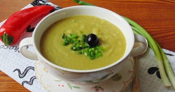 Суп из горошка с мятой. Готовим дома.