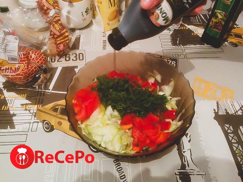 Салат из овощей на каждый день.