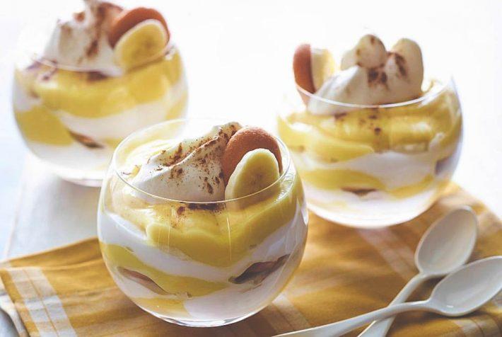 Простой рецепт приготовления бананового пудинга в домашних условиях.